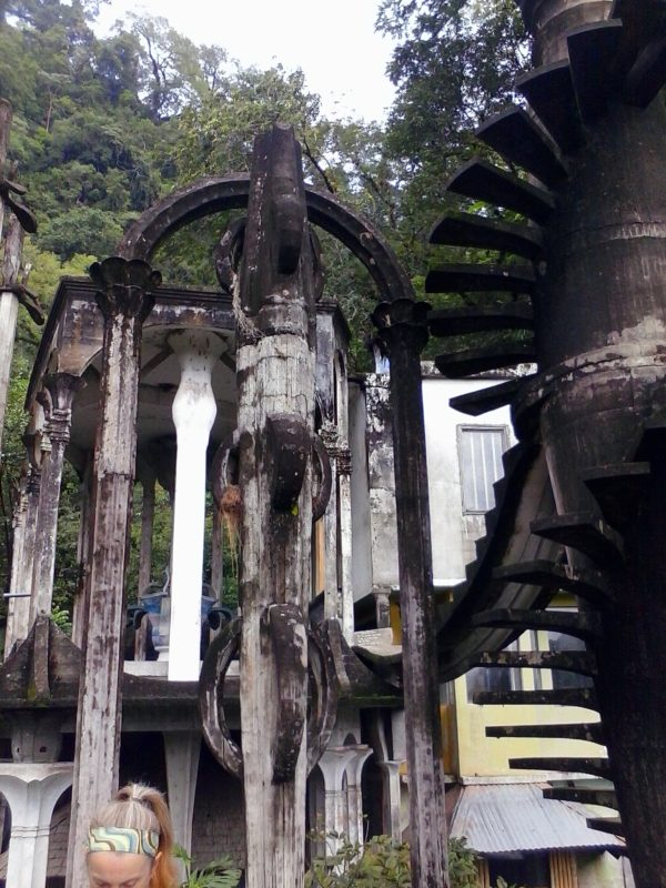 Oddly-shaped concrete installations in the jungle at Parque Edward James in Xilitla, Mexico.