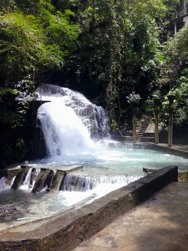 A waterfall at Parque Edward James in Xilitla, Mexico.