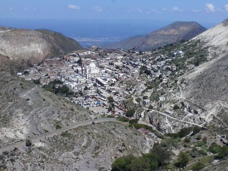 A view of Real de Catorce in the state of San Luis Potosi in Mexico.