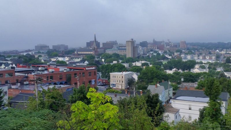 A view of Portland, Maine from Standpipe Park.