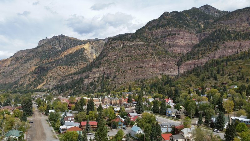 View of the town of Ouray in Colorado.