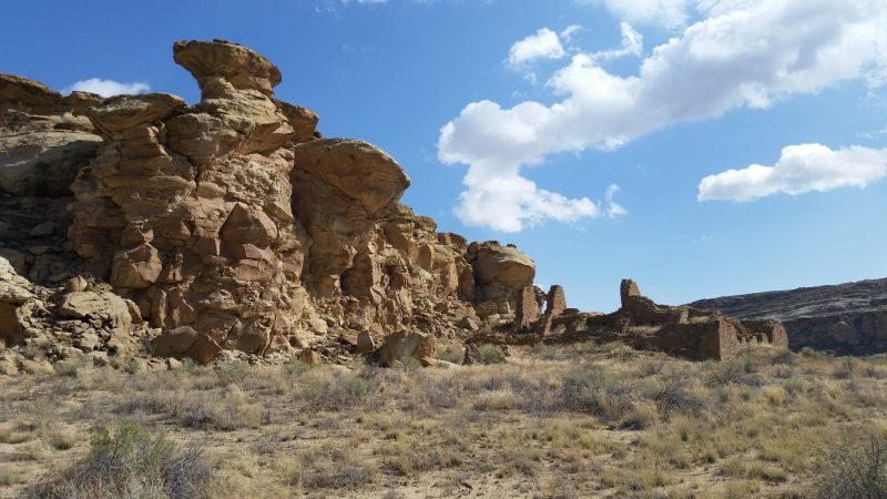 The ruins of Casa Chiquita on the Penasco Blanco Trail in Chaco Canyon.