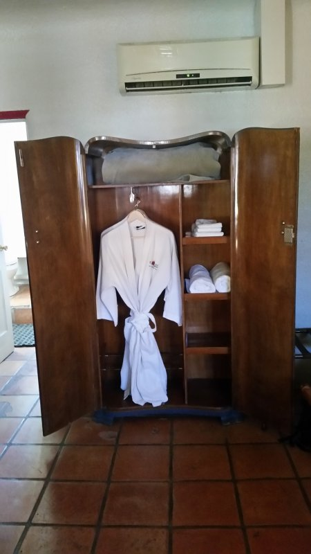 white robe at blackstone spa in new mexico.