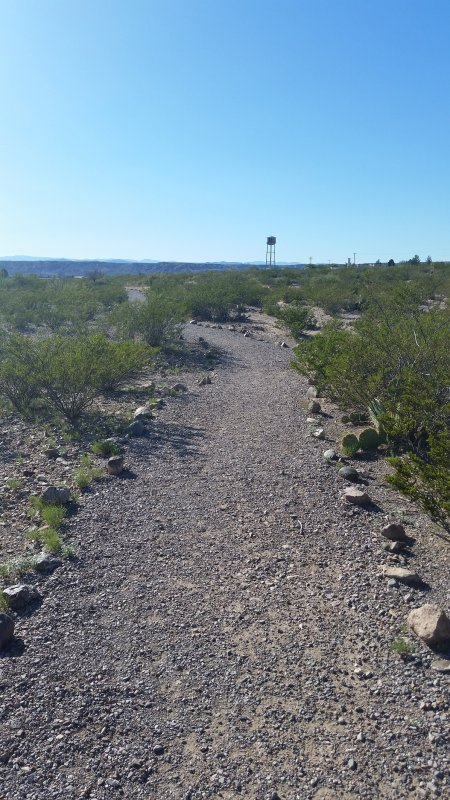 A walking path in Truth or Consequences, New Mexico.