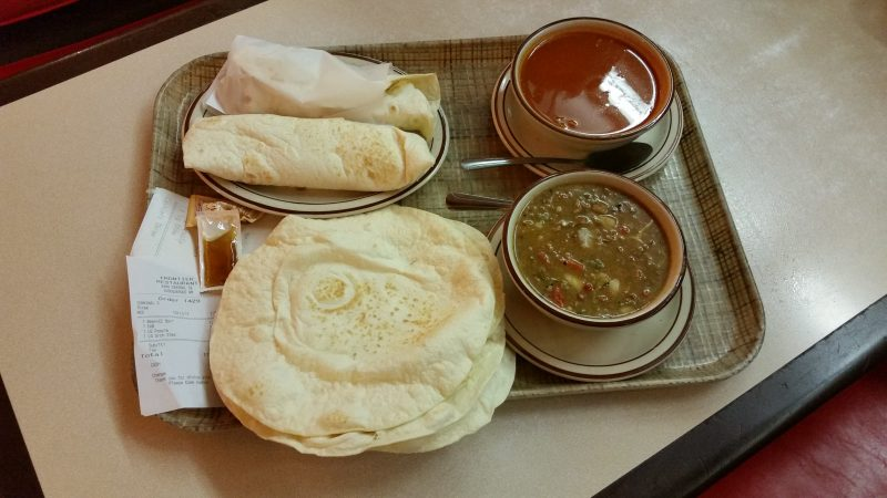 Green Chile Stew and Red Posole from The Frontier Restaurant, Albuquerque