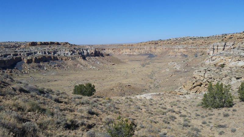 A view of the South Mesa from a Chaco Canyon hiking trail.