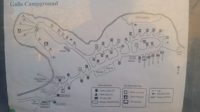 map of gallo campground.