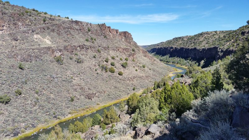 A view of the Rio Grande Gorge near one of the Taos hot springs.