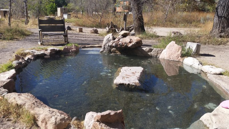 A hot Spring pool at Gila Hot Springs Campground.