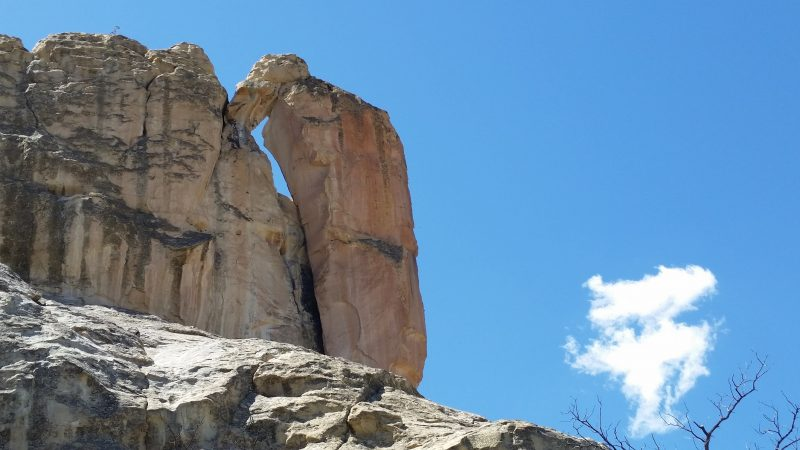 The famous Woodpecker Arch at El Morro National Monument in New Mexico.