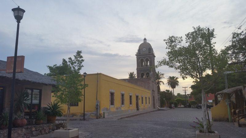 The mission church in Loreto, Baja California, Mexico.