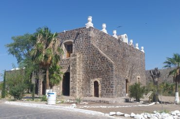 The Baja Mission of Santa Rosalia de Mulege in Mexico.