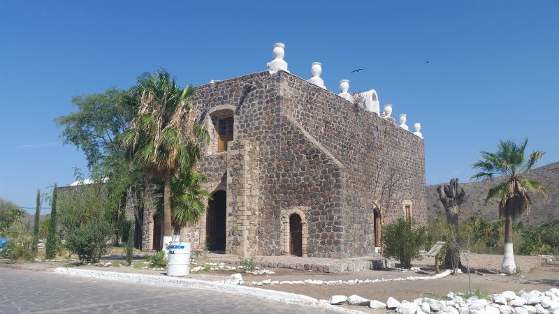 The Baja Mission of Santa Rosalia de Mulege in Mexico.