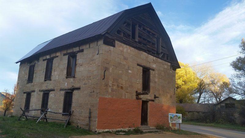 the sandstone St. Vrain Mill in Mora, New Mexico.