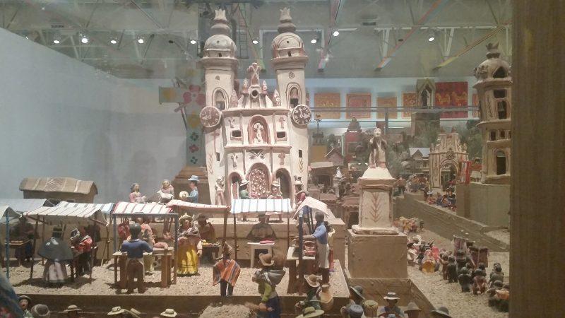 A diorama scene of a Peruvian village from the Museum of International Folk Art Museum in Santa Fe.