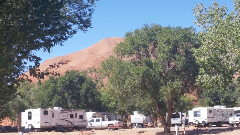 Campground at Red Rock Park Gallup, New Mexico.