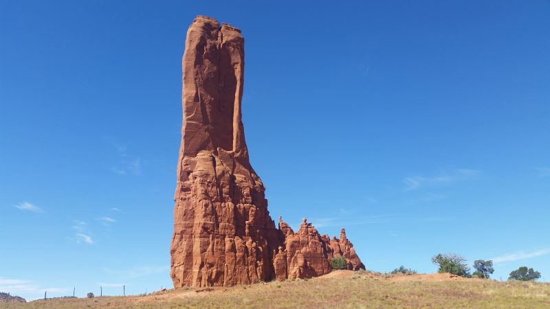Cleopatra's Needle New Mexico. Large natural sandstone pillar.