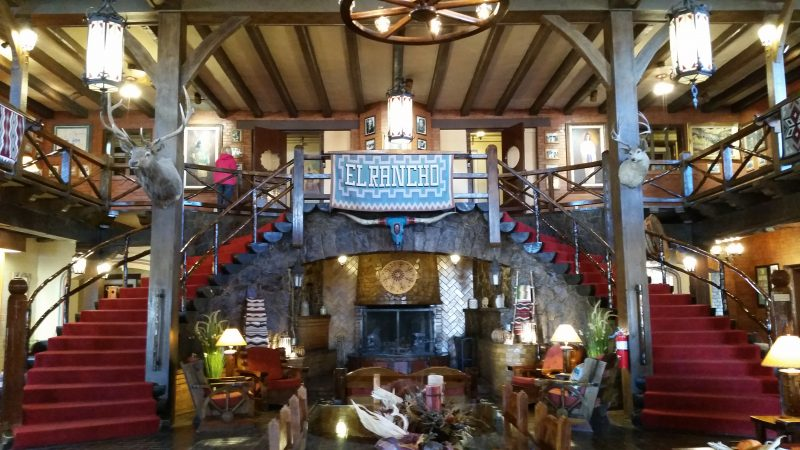 Lobby of historic El Rancho Hotel in Gallup New Mexico.
