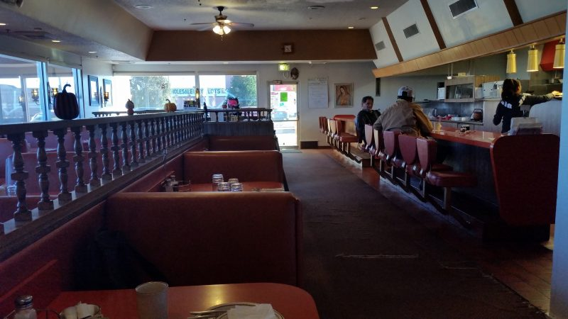 Interior of one of the classic Route 66 restaurants in Gallup, NM.