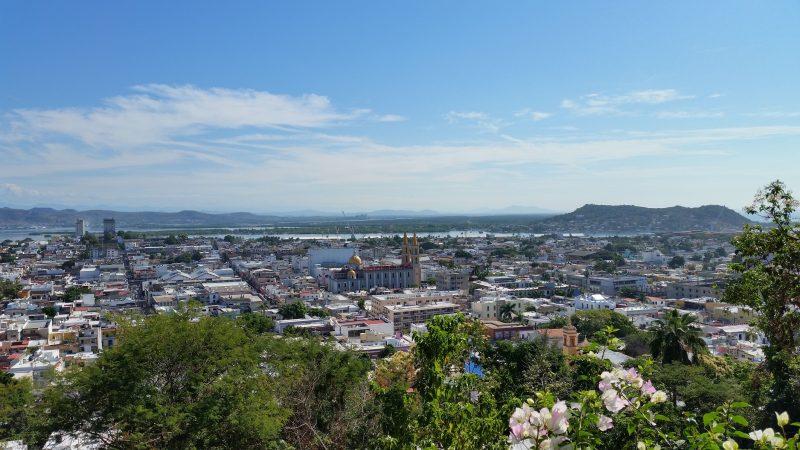 Expansive view from Cerro de la Niveria of the Old Town and Centro areas of Mazatlan, Mexico.