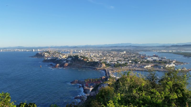 A view from the observation point of El Faro lighthouse, one of the more popular things to do in Mazatlan.