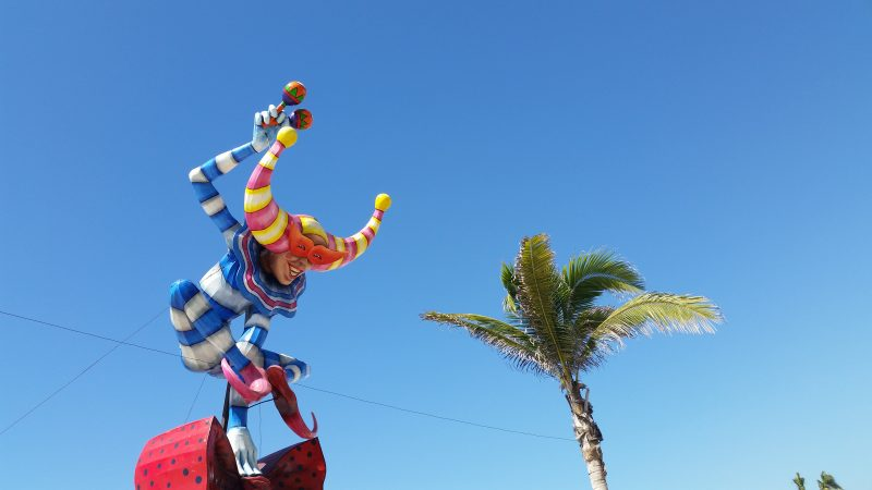 A Carnival figure on the Mazatlan Malecon.