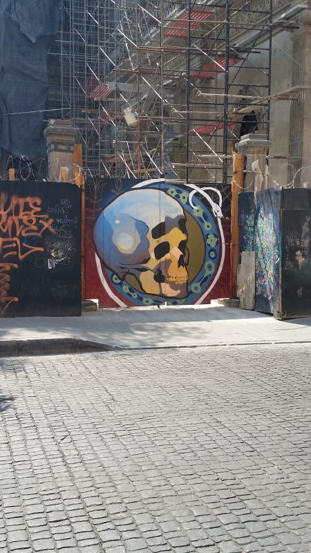 An example of colorful urban artwork on the streets of Mexico City.