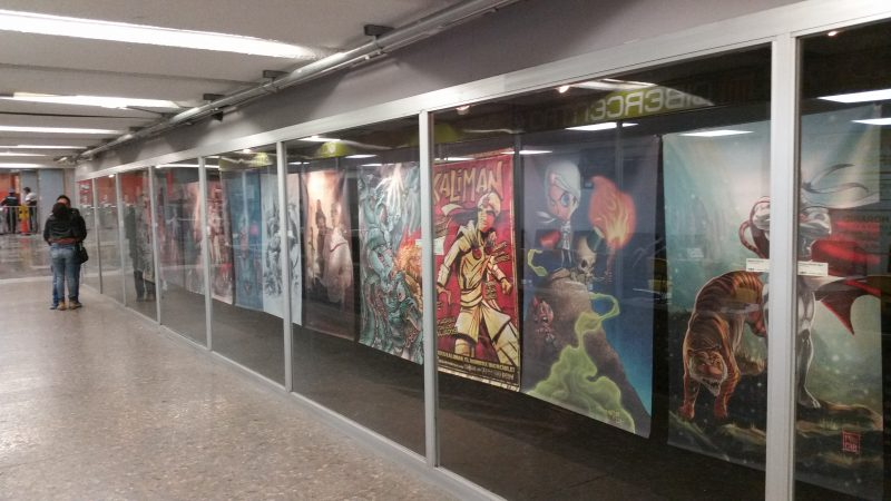 Art in the interior of a Mexico City Metro Station.