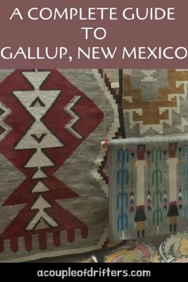 red, white and black geometric pattern Navajo rug.