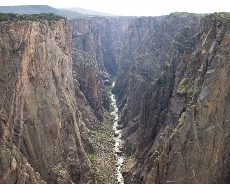 Gorge of black canyon on the gunnison river.