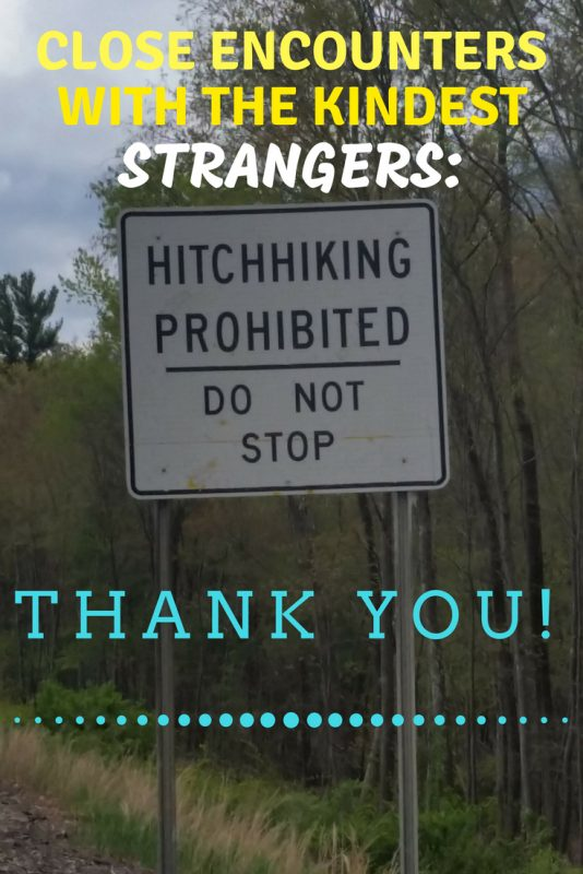 hitchhiking prohibited sign.