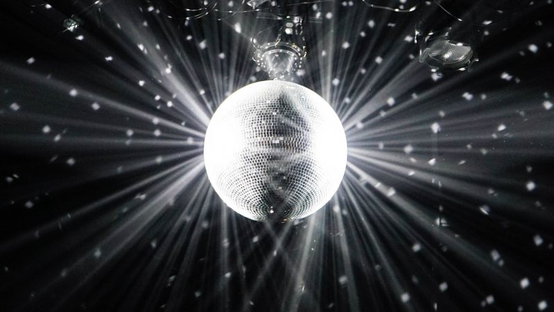 A mirrored disco ball.