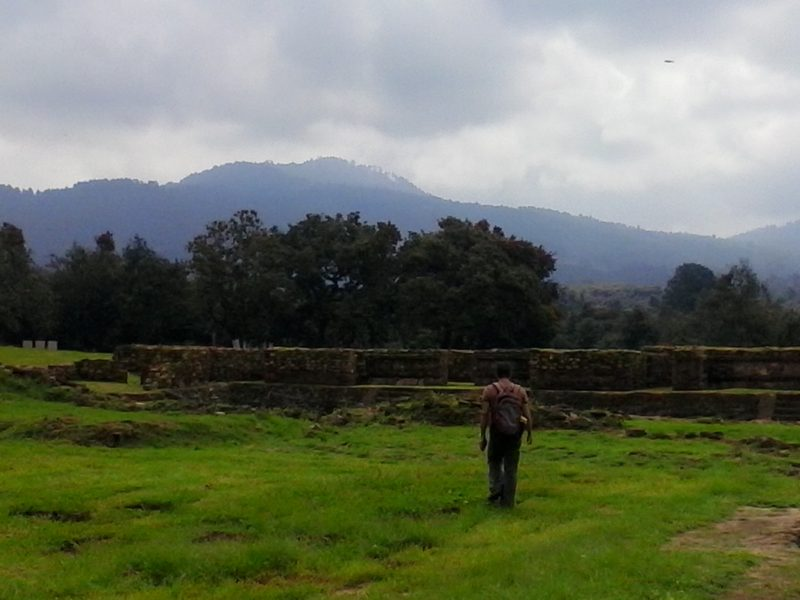 A ruined pyramid at Tingambato in Michoacan, Mexico.