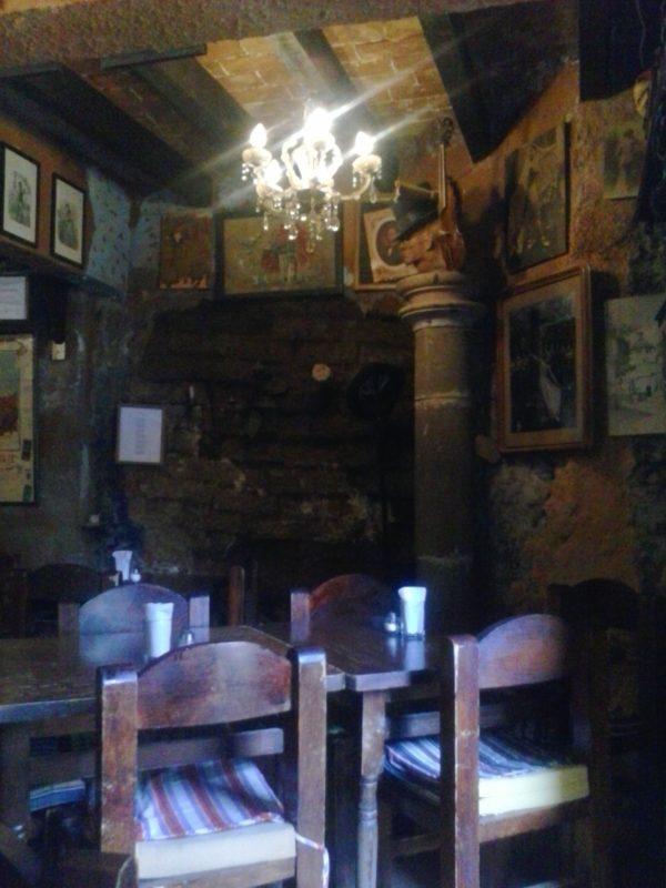 The interior of the bar Clave Azul in Guanajuato, Mexico.