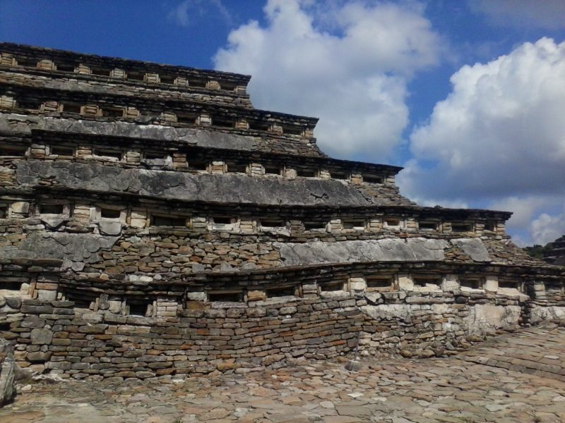 Niche pyramid at el Tajin site in Veracruz, Mexico.