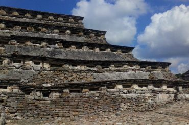 A niche pyramid from El Tajin in Mexico.