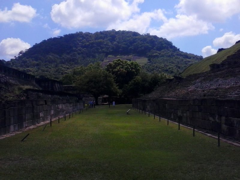 Ballcourt at el Tajin site in Mexico.