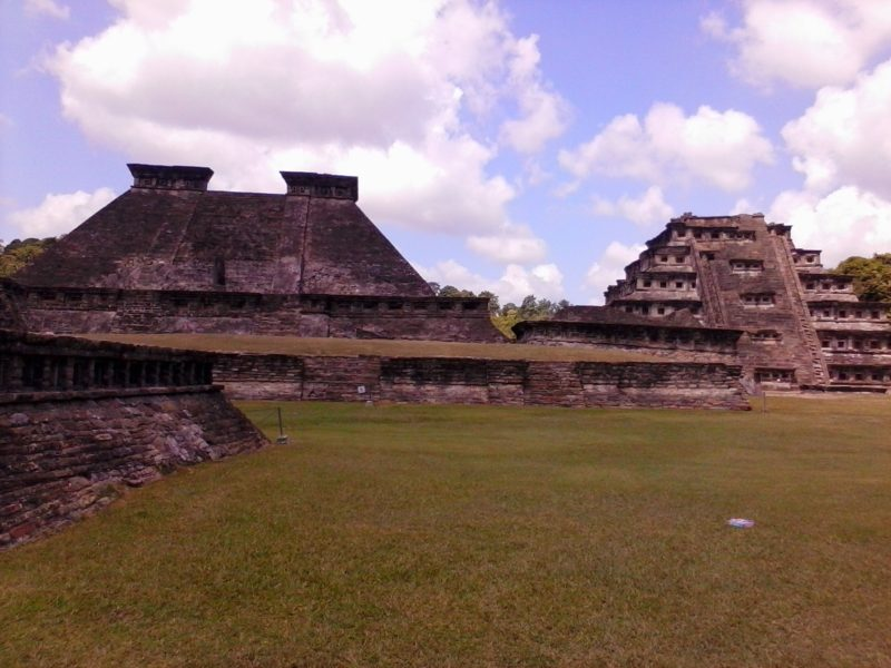 Pyramids at el Tajin site in Veracruz, Mexico.
