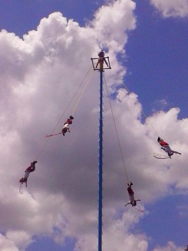 Voladores at el Tajin in Veracruz, Mexico.