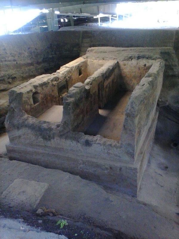 Ruins at Joya de Ceren site in El Salvador.
