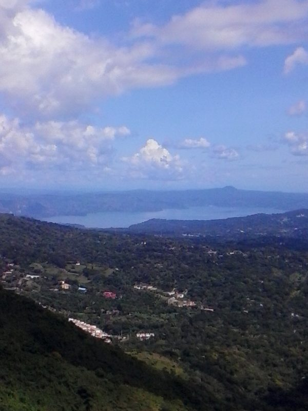 An overlook in San Salvador, El Salvador.