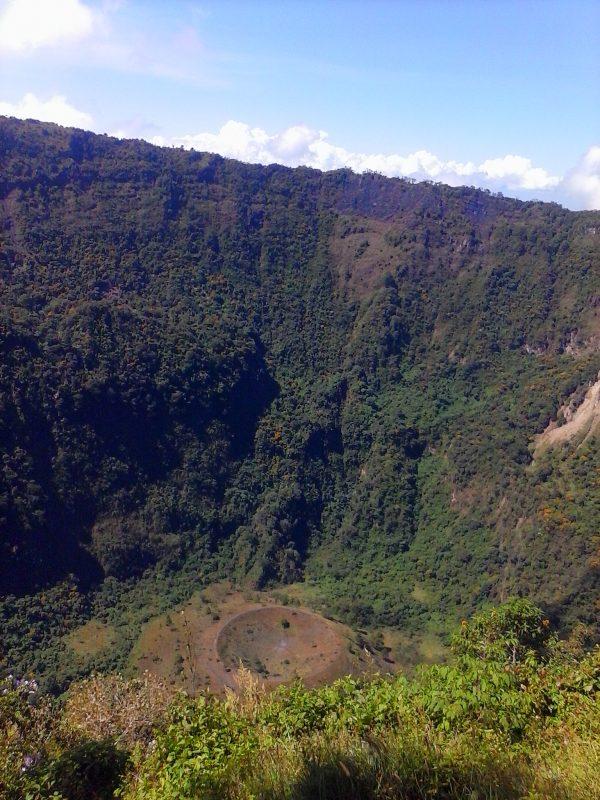A volcanic crater in El Salvador.