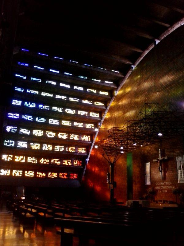 Interior of Iglesia el Rosario in San Salvador, El Salvador.