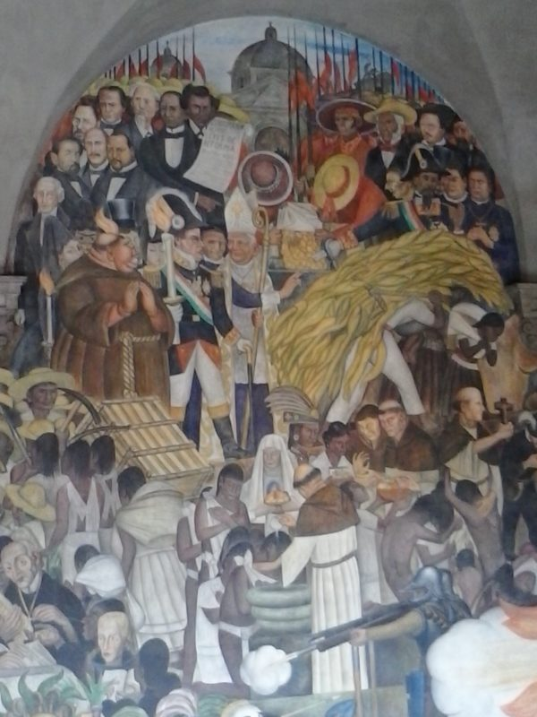 Diego Rivera mural from the National Palace in Mexico City depicting various events throughout the history of the Mexican people.