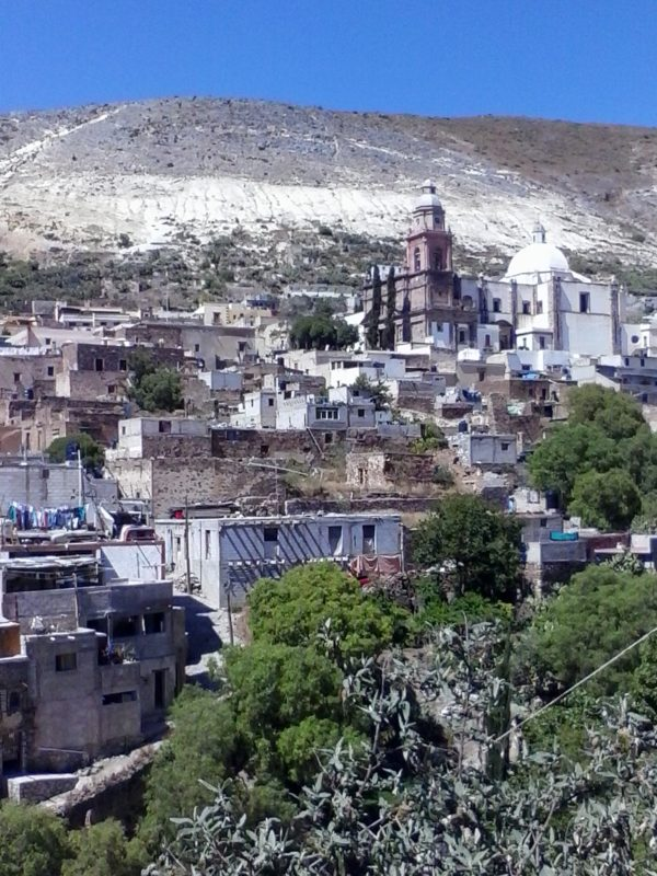 A view of the town of Real de Catorce in the state of San Luis Potosi in Mexico.