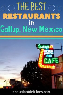 A light up neon sign for Jerry's Cafe in Gallup, New Mexico.