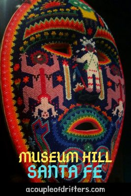 colourful beaded huichol mask