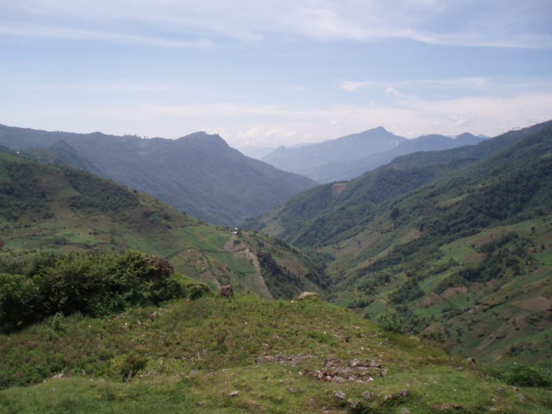 A valley in the western highlands of Guatemala.