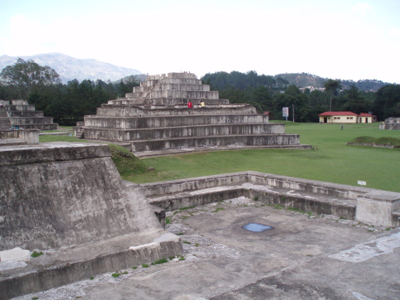 The ruins of Zaculeu near Huehuetenango, Guatemala.