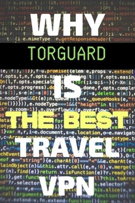 a screen of computer code with TorGuard ad.